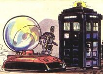Cyberman hovercraft and TARDIS