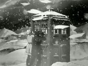TARDIS and snow 10th Planet