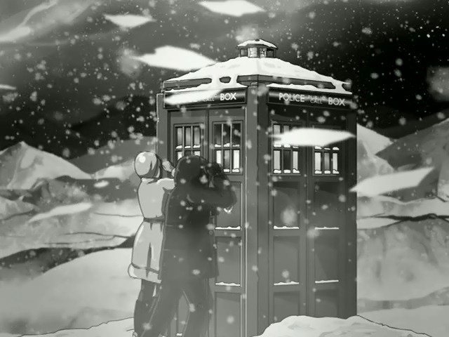 File:TARDIS and snow 10th Planet.jpg