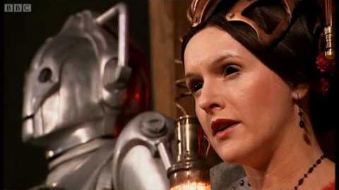 The Cyberking rises from the River Thames - Doctor Who- The Next Doctor - BBC