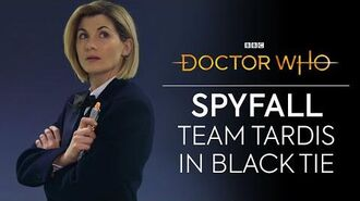 Team TARDIS in Black Tie Spyfall Doctor Who Series 12