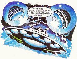 Mechanoids Force Field against Dalek saucer EveofWar