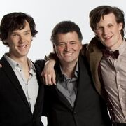 Sherlock and the Doctor with some bloke