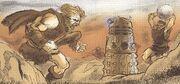 Dalek vs primitive men