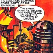 The Dalek Outer Space Book The Secret of the Emporer Golden Dalek taken apart