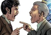 Four Doctors Ten and Twelve argue