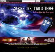 Series 1-3 Website Home Page in 2008