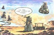 Daleks attack Mars