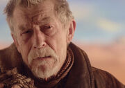 War Doctor trekking through Gallifreyan wilderness