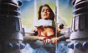 Leela imprisoned by Daleks