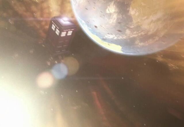 File:TARDIS solar tsunami The Rebel Flesh.jpg