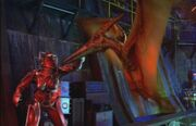 Pterasaur vs cyborg