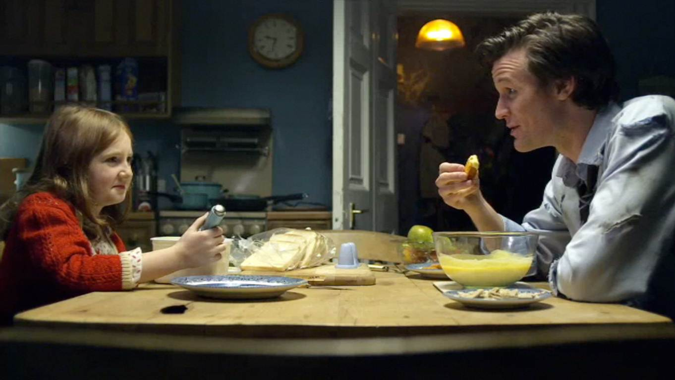 The Doctor And Amelia In Kitchen Jpg