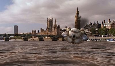 A Spaceship Crashes In The River Thames London TV Aliens Of