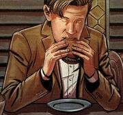 Eleven eating Galth burger