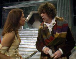 Leela and the Doctor on Gallifrey
