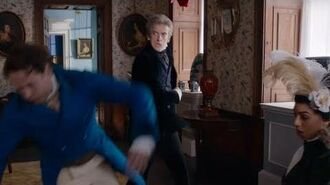 The Doctor Punches Sutcliffe Thin Ice Doctor Who BBC