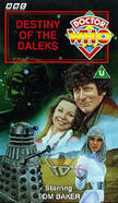 Destiny of the Daleks VHS UK cover