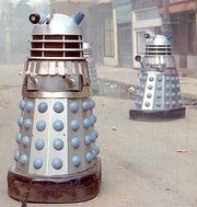 Silver Daleks with large headlamps