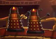 Red Daleks aboard Starbane