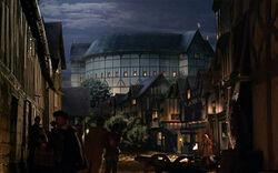 Globe Theatre from street (TSC)