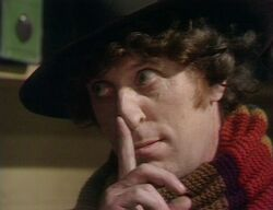 Fourth Doctor taps his nose