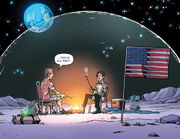 Rory and the Doctor on the Moon