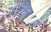Daleks attack Saturn moons