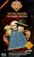 The Five Doctors and The Kings Demons VHS box set Australian cover