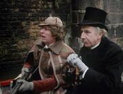 Four and Litefoot in a boat