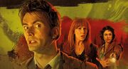 Tenth Doctor and Donna amidst the Great Smog of London