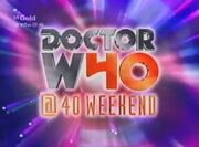 Doctor Who @40 title card