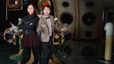 Matt Smith Makeover - Doctor Who Cosplay with Sachie from Geek & Sundry Vlogs