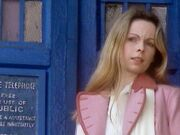 Romana outside TARDIS