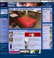 Doctor Who Website Home Page on 26 August 2004