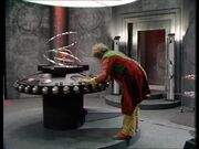 The Doctor in the Rani's TARDIS