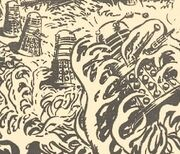 Daleks attacked by Fungoids