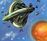 The Dalek World The Mechanical Planet Space Vault Above sKARO