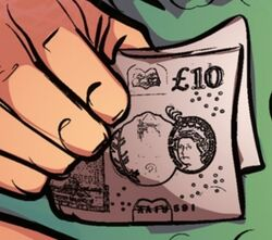 Ten pound note Fooled