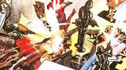 Engibrains destroy Dalek City