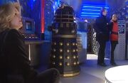 Doctor Who Thirteenth Doctor and Black Dalek