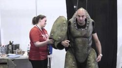 John Davey explains exactly how he becomes a monster on the set of Doctor Who