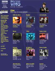 Doctor Who Website Home Page on 10 April 2001