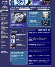 Doctor Who Website Home Page on 4 June 2001