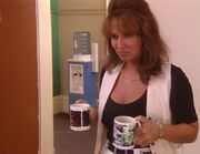 Lou with tea