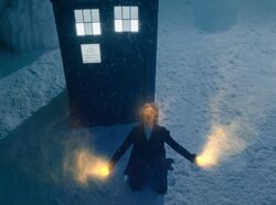 The Twelfth Doctor starts to regenerate