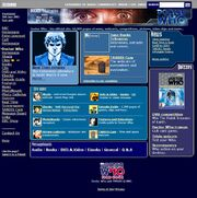 Doctor Who Website Home Page on 26 June 2003