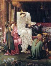 250px-Edward Burne-Jones The last sleep of Arthur