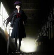 Yuuko with a baseball bat