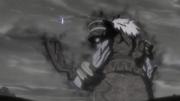 Sekai peleando contra el dragón